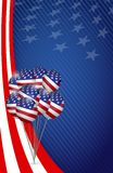 Usa graphic. american flag balloon flag background Royalty Free Stock Images