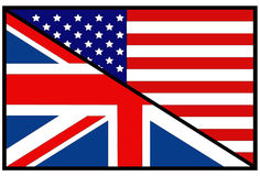 USA and Great Britain flags. Vector file of USA and Great Britain flags Royalty Free Stock Images