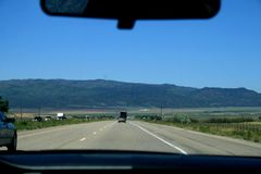 USA. Green mountains Utah. View from the highway royalty free stock images