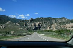 Grey mountains Utah. View from the highway. stock image