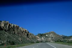 Grey mountains Utah. View from the highway. royalty free stock photography
