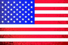 USA. grunge American flag illustration Royalty Free Stock Photography