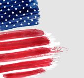 USA grunge flag background. Vector abstract grunge flag with text. Template for banner, greeting card, invitation, poster, flyer, etc. Concept for USA national Royalty Free Stock Photography