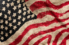 Usa grunge flag. Painted on fabric Royalty Free Stock Images
