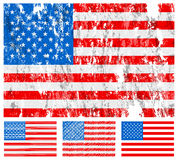 USA grunge flag set Stock Photography