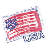 USA grunge flag vector Stock Photos