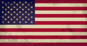 USA. Grunge flag of USA - vector illustration Royalty Free Stock Photography