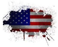 USA grunge Markierungsfahne Lizenzfreie Stockfotografie