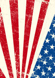 USA grunge poster. An american grunge flag for you Stock Photos