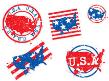USA grunge stamps Stock Images
