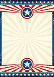 USA grunge star poster Royalty Free Stock Photos