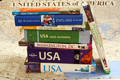 USA guide books Royalty Free Stock Images