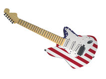USA guitar Stock Photography