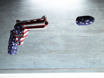 USA Gun. Fires America Bullet vector illustration