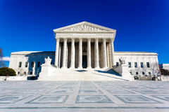 USA-högsta domstolenbyggnad Royaltyfria Bilder