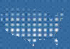 USA in halftone. With blue background,Eps8file added Stock Photos
