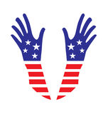 USA hands Stock Photography