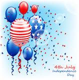 USA Happy Independence Day, 4th of July. Vector Illustration Royalty Free Stock Images