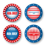 USA Happy Independence Day, 4th of July. Vector Illustration Stock Images