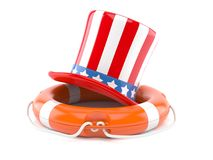 USA hat with life buoy Stock Photo