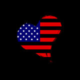 USA heart. Royalty Free Stock Photography