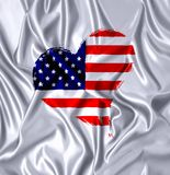 USA heart. Stock Images