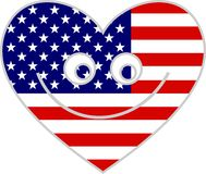 Usa heart Royalty Free Stock Photography