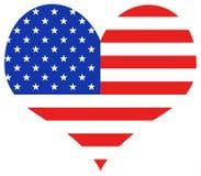 USA Heart vector illustration