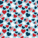Usa heart pattern Stock Images