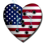 USA Heart Wounded Stock Image