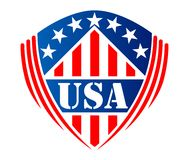 Usa heraldic shield symbol Stock Photos