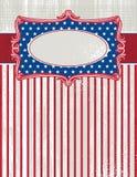 USA-Hintergrund mit einem dekorativen Kennsatz, Vektor stock abbildung