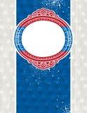 USA-Hintergrund mit einem dekorativen Kennsatz, Vektor vektor abbildung