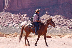 USA - horse riding in Monument valley Stock Photo
