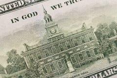 USA hundra dollarbest?ndsdelar, toppen makro, st?nger sig upp fotoet royaltyfri bild