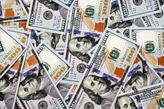 2013 USA hundra dollarräkningar Arkivbilder