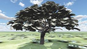 USA Hundred Tree. USA Hundred Dollar Bill Tree vector illustration