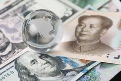 USA i Chiny ograniczenie wolnego wynku, akcja rzędem który robi obrazy royalty free