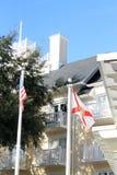 USA i Fla stan zaznaczamy przy hotelowymi ziemiami Zdjęcia Royalty Free