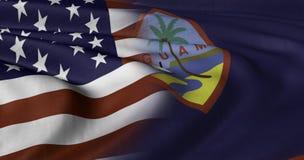 USA i Guam flaga ilustracja wektor