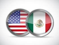 usa i Mexico zjednoczenia fok ilustracyjny projekt Obraz Stock