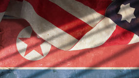 Usa i Północnego Korea flaga Obraz Stock