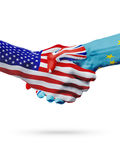 USA i Tuvalu flaga pojęcia współpraca, biznes, sport rywalizacja ilustracja wektor