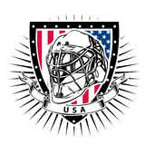 Usa ice hockey helmet shield Stock Images