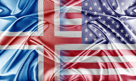 USA and Iceland. Relations between two countries. Conceptual image Stock Photo