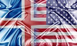 USA and Iceland Stock Photo