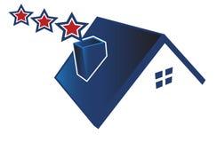 USA icon house logo royalty free stock image