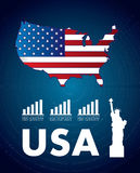 USA icons Stock Images