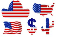 USA Icons Royalty Free Stock Photo
