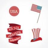 USA Icons Royalty Free Stock Photo